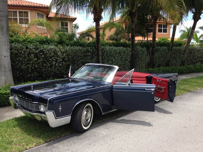 Rent Lincoln Continental Convertible Miami Picture Cars Miami Florida