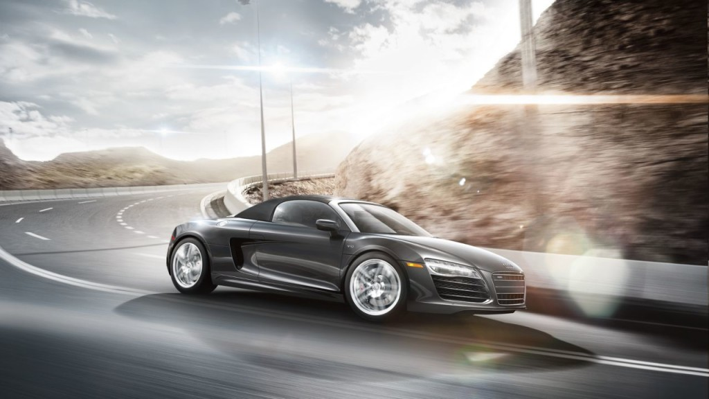 Audi R8 Spyder Convertible at Platinum Car Rental
