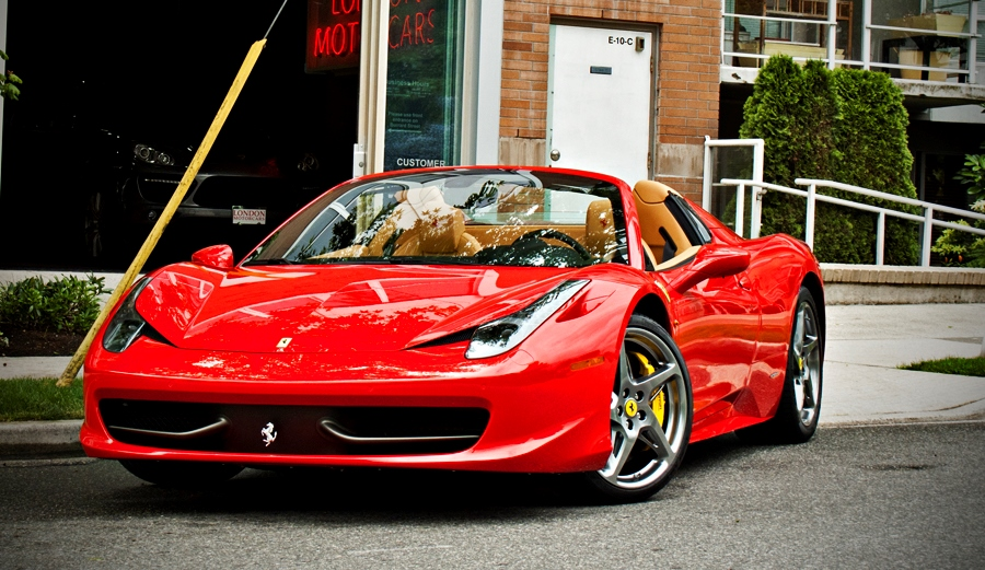 Ferrari 458 Spyder Platinum Car Rental